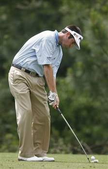 DULUTH, GA - MAY 16:  Bubba Watson hits his tee shot on the second hole during the second round of the AT&T Classic at TPC Sugarloaf on May 16, 2008 in Duluth, Georgia.  (Photo by Matt Sullivan/Getty Images)