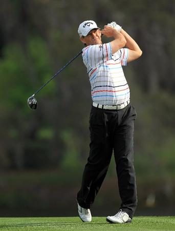 ORLANDO, FL - MARCH 24:  Lee Janzen of the USA drives from the 16th tee during the first round of the 2011 Arnold Palmer Invitational presented by Mastercard at the Bay Hill Lodge and Country Club on March 24, 2011 in Orlando, Florida.  (Photo by David Cannon/Getty Images)