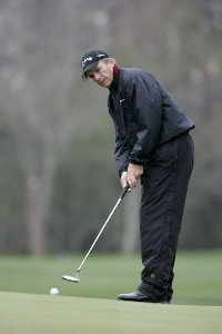 Defending champion Jerry Pate during the first round of the Outback Steakhouse Pro-Am held at TPC Tampa Bay in Lutz, Florida, on February 16, 2007. Photo by: Stan Badz/PGA TOURPhoto by: Stan Badz/PGA TOUR