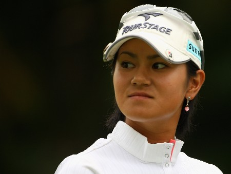 SINGAPORE - FEBRUARY 29:  Ai Miyazato of Japan waits on the sixth hole during the second round of the HSBC Women's Champions at Tanah Merah Country Club on February 29, 2008 in Singapore.  (Photo by Andrew Redington/Getty Images)