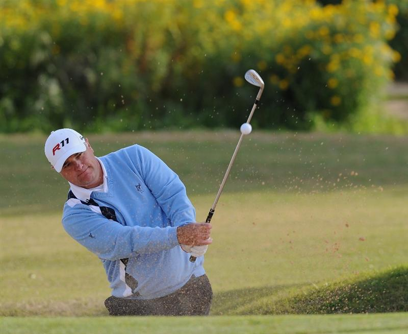 RAGUSA, ITALY - MARCH 18:  Stephen Dodd of Wales plays his bunker shot on the sixth hole during the second round of the Sicilian Open at the Donnafugata golf resort and spa on March 18, 2011 in Ragusa, Italy.  (Photo by Stuart Franklin/Getty Images)
