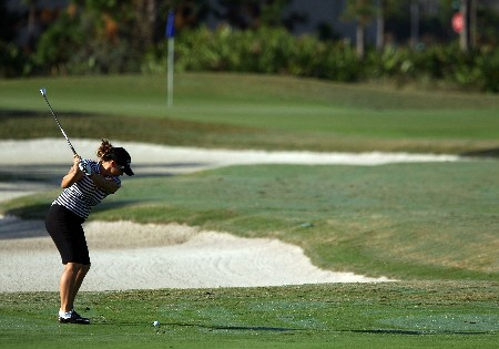 DAYTONA BEACH, FL - DECEMBER 02:  Kelli Kuehne hits a shot during the final round of the 2007 LPGA Qualifying Tournament at LPGA International on December 2, 2007 in Daytona Beach, Florida  (Photo by Scott Halleran/Getty Images)