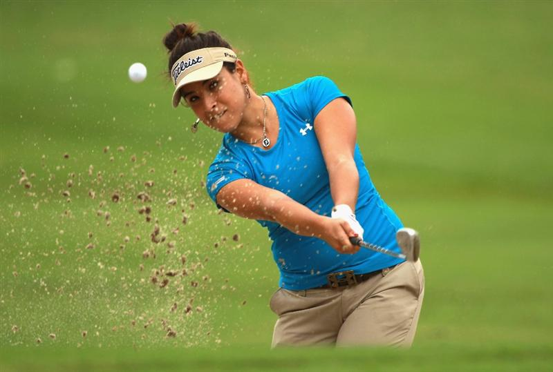 RIO DE JANEIRO, BRAZIL - MAY 29:  Mariajo Uribe of Colombia plays a bunker shot on the 13th hole during the final round of the HSBC LPGA Brazil Cup at the Itanhanga Golf Club on May 29, 2011 in Rio de Janeiro, Brazil.  (Photo by Scott Halleran/Getty Images)