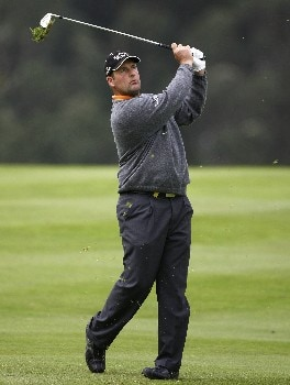 MADEIRA, PORTUGAL - MARCH 22:  John Bickerton of England hits an approach shot during Round Three of the Madeira Islands Open BPI 2008 at Clube De Golf Santo Da Serra on March 22, 2008 in Madeira, Portugal.  (Photo by Ryan Pierse/Getty Images)