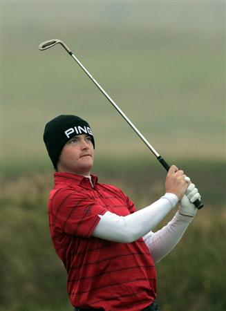 CARNOUSTIE, SCOTLAND - OCTOBER 08:  Gary Boyd of England plays his second shot at the 4th hole during the second round of The Alfred Dunhill Links Championship at Carnoustie Golf Links on October 8, 2010 in Carnoustie, Scotland.  (Photo by David Cannon/Getty Images)