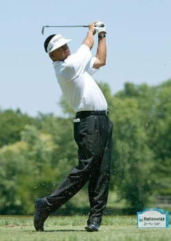 Esteban Toledo in action during the final round of the Preferred Health Systems Wichita Open, Crestview Country Club, Wichita, Kansas. Sunday, July 31st, 2005Photo by Hunter Martin/WireImage.com