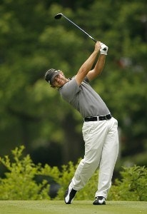 Ryan Moore during the second round of the Memorial Tournament Presented by Morgan Stanley held at Muirfield Village Golf Club in Dublin, Ohio, on May 31, 2007. Photo by Mike Ehrmann/WireImage.com