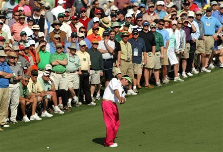 AUGUSTA, GA - APRIL 11:  Bubba Watson hits an approach shot on the second hole during the second round of the 2008 Masters Tournament at Augusta National Golf Club on April 11, 2008 in Augusta, Georgia.  (Photo by Harry How/Getty Images)