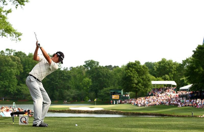 CHARLOTTE, NC - MAY 03:  Sean O'Hair hits his tee shot on the 17th hole during the final round of the Quail Hollow Championship at the Quail Hollow Club on May 3, 2009 in Charlotte, North Carolina.  (Photo by Scott Halleran/Getty Images)