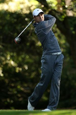 AUGUSTA, GA - APRIL 09:  Trevor Immelman of South Africa hits his tee shot on the second hole during the second round of the 2010 Masters Tournament at Augusta National Golf Club on April 9, 2010 in Augusta, Georgia.  (Photo by Andrew Redington/Getty Images)