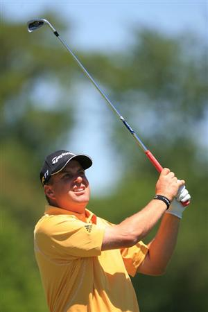 NEW ORLEANS, LA - APRIL 28 : Matt Bettencourt hits his tee shot on the 17th hole during the first round of the Zurich Classic at the TPC Louisiana on April 28, 2011 in New Orleans, Louisiana. (Photo by Hunter Martin/Getty Images)