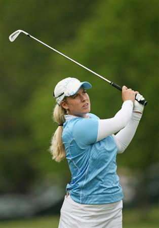 CLIFTON, NJ - MAY 16 : Brittany Lincicome hits her second shot on the 13th hole during the third round of the Sybase Classic presented by ShopRite at Upper Montclair Country Club on May 16, 2009 in Clifton, New Jersey. (Photo by Hunter Martin/Getty Images)