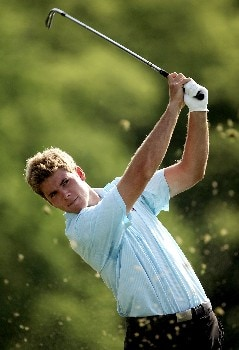 OAKMONT, PA - JUNE 13:  Luke List hits a shot during the final practice round prior to the start of 107th U.S. Open Championship at Oakmont Country Club on June 13, 2007 in Oakmont, Pennsylvania.  (Photo by Sam Greenwood/Getty Images)