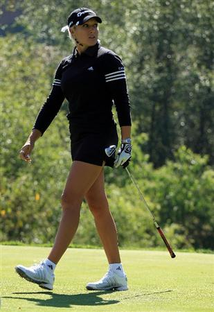HUIXQUILUCAN, MEXICO - MARCH 22:  Natalie Gulbis of the USA watches her tee shot on the 11th hole during the final round of the MasterCard Classic at the BosqueReal Country Club on March 22, 2009 in Huixquiucan, Mexico.  (Photo by Scott Halleran/Getty Images)