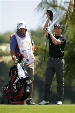 RIO GRANDE, PR - MARCH 15:  Derek Lamely pulls out his driver on the third hole during the final round of the Puerto Rico Open presented by Banco Popular at Trump International Golf Club held on March 15, 2010 in Rio Grande, Puerto Rico.  (Photo by Michael Cohen/Getty Images)