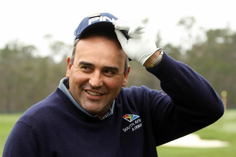 PEBBLE BEACH, CA - JUNE 14:  Angel Cabrera of Argentina smiles during a practice round prior to the start of the 110th U.S. Open at Pebble Beach Golf Links on June 14, 2010 in Pebble Beach, California.  (Photo by Scott Halleran/Getty Images)