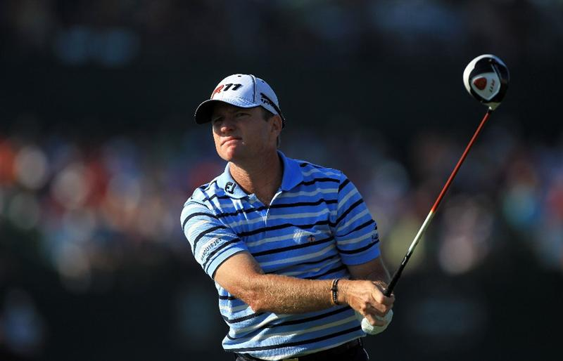 ORLANDO, FL - MARCH 25:  Scott Verplank watches his tee shot at the 16th hole during the second round of the 2011 Arnold Palmer Invitational presented by Mastercard at the Bay Hill Lodge and Country Club on March 25, 2011 in Orlando, Florida.  (Photo by David Cannon/Getty Images)