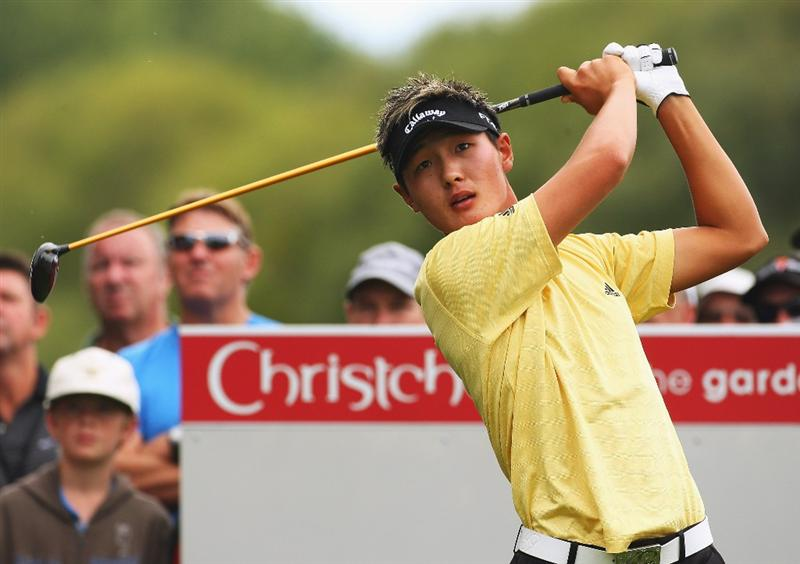 CHRISTCHURCH, NEW ZEALAND - MARCH 05:  Danny Lee of New Zealand tees off on the 1st hole during day two of the New Zealand PGA Championship held at the Clearwater Golf Club March 06, 2009 in Christchurch, New Zealand.  (Photo by Phil Walter/Getty Images)