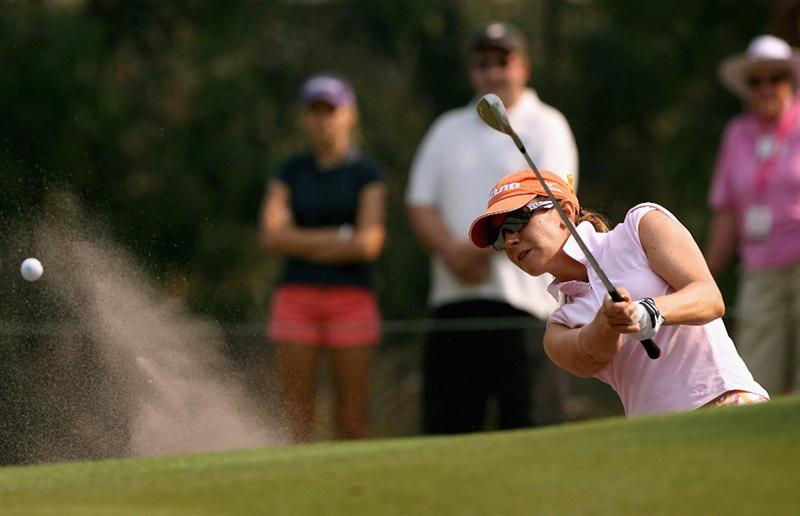 MELBOURNE, AUSTRALIA - FEBRUARY 14:  Anna Knutsson of Sweden hits her second shot on the first hole during day three of the 2009 Women`s Australian Open held at the Metropolitan Golf Club February 14, 2009 in Melbourne, Australia.  (Photo by Robert Prezioso/Getty Images)