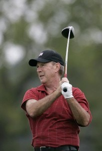 Larry Nelson during the first round of the Constellation Energy Classic at Hayfields Country Club in Hunt Valley, Maryland on September 15, 2006.Photo by Michael Cohen/WireImage.com