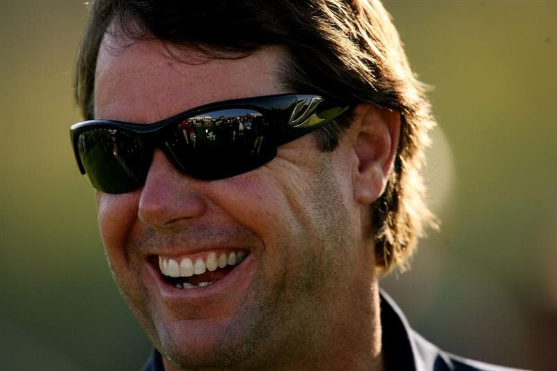 LOUISVILLE, KY - SEPTEMBER 17:  USA team captain Paul Azinger smiles while attending the USA team photo shoot prior to the 2008 Ryder Cup at Valhalla Golf Club on September 17, 2008 in Louisville, Kentucky.  (Photo by Andy Lyons/Getty Images)