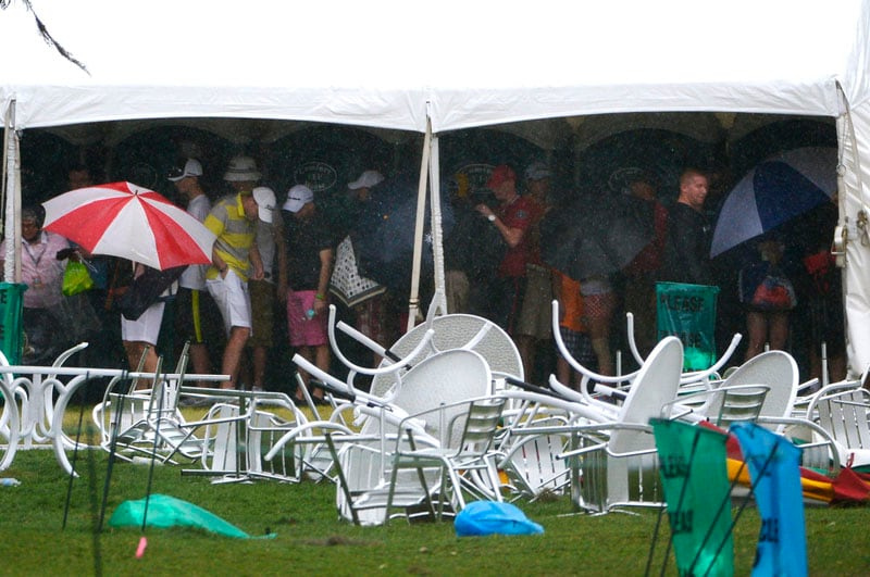 Storm damage at Bay Hill