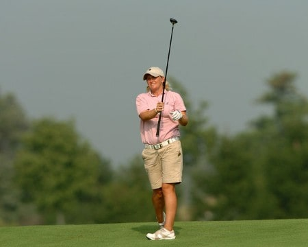 Becky Morgan in action during the third round of the 2005 Wendy's Championship for Children at the Tartan Fields Golf Club in Dublin, Ohio on Saturday August 27, 2005.Photo by Steve Grayson/WireImage.com