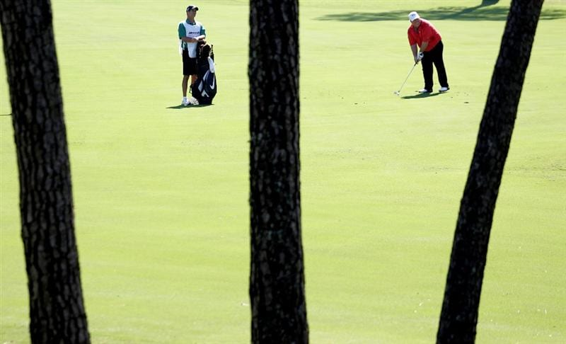 WOODLANDS, TX - OCTOBER 18:  Craig Stadler hits out of the fairway on the 7th hole during the second round of the Administaff Small Business Classic at the Woodlands Country Club on October 18, 2008 in Woodlands, Texas. (photo by Marc Serota/ Getty Images)