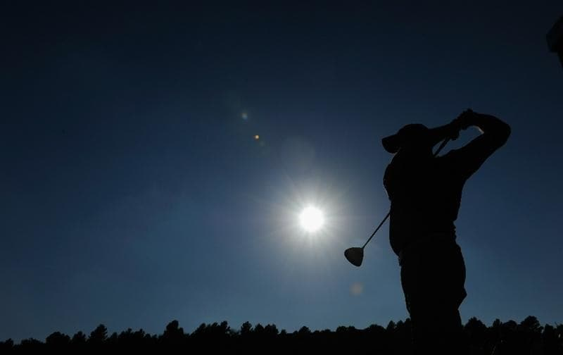 CASTELLON DE LA PLANA, SPAIN - OCTOBER 23:  Christian Nilsson of Sweden plays his tee shot on the 18th hole during the third round of the Castello Masters Costa Azahar at the Club de Campo del Mediterraneo on October 23, 2010 in Castellon de la Plana, Spain.  (Photo by Stuart Franklin/Getty Images)