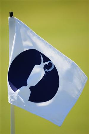 TURNBERRY, SCOTLAND - JULY 15:  An Open Championship flagstick is seen during a practice round prior to the 138th Open Championship on the Ailsa Course, Turnberry Golf Club on July 15, 2009 in Turnberry, Scotland.  (Photo by Richard Heathcote/Getty Images)