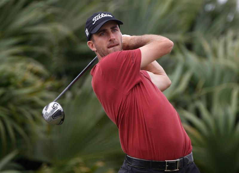 DORAL, FL - MARCH 11:  Geoff Ogilvy of Australia watches his tee shot on the eighth tee during the first round of the 2010 WGC-CA Championship at the TPC Blue Monster at Doral on March 11, 2010 in Doral, Florida.  (Photo by Scott Halleran/Getty Images)