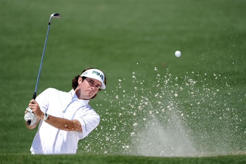 AUGUSTA, GA - APRIL 07:  Bubba Watson hits out of the bunker on the second hole during the first round of the 2011 Masters Tournament at Augusta National Golf Club on April 7, 2011 in Augusta, Georgia.  (Photo by Harry How/Getty Images)