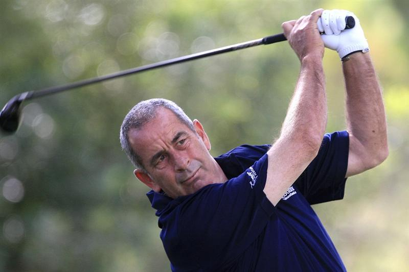 CASTELLON DE LA PLANA, SPAIN - NOVEMBER 06:  Sam Torrance of Scotland in action during the first round of the OKI Castellon Senior Tour Championship played at Club de Campo Mediterraneo on November 6, 2009 in Castellon de la Plana, Spain.  (Photo by Phil Inglis/Getty Images)