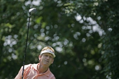 Brad Faxon tees off on #2 in the third round of the Barclays Classic at the Westchester CC in Rye, NY. Saturday June 25, 2005Photo by Chris Condon/PGA TOUR/WireImage.com