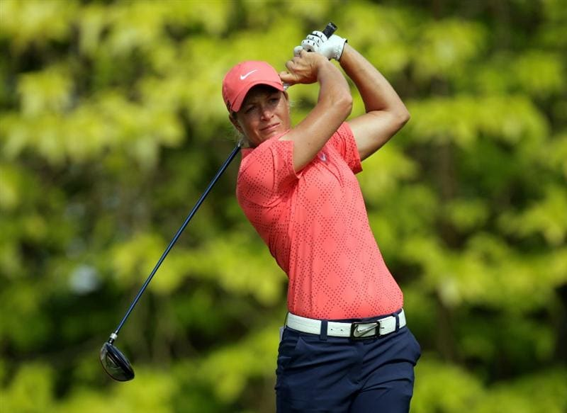 SINGAPORE - FEBRUARY 27:  Suzann Pettersen of Norway during the final round of the HSBC Women's Champions at Tanah Merah Country Club  on February 27, 2011 in Singapore, Singapore.  (Photo by Ross Kinnaird/Getty Images)