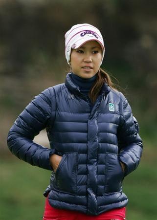INCHEON, SOUTH KOREA - NOVEMBER 01:  Momoko Ueda of Japan on the the 2th hole during final round of Hana Bank Kolon Championship at Sky 72 Golf Club on November 1, 2009 in Incheon, South Korea.  (Photo by Chung Sung-Jun/Getty Images)