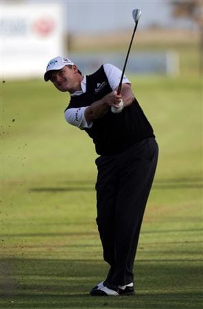 MALAGA, SPAIN - MARCH 26:  Paul Lawrie of Scotland during the third round of the Open de Andalucia at the Parador de Malaga Golf Course on March 26, 2011 in Malaga, Spain.  (Photo by Ross Kinnaird/Getty Images)