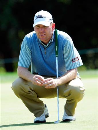 PALM HARBOR, FL - MARCH 20:  Troy Matteson looks over a birdie putt on the 7th hole during the second round of the Transitions Championship at the Innisbrook Resort and Golf Club on March 20, 2009 in Palm Harbor, Florida.  (Photo by Sam Greenwood/Getty Images)
