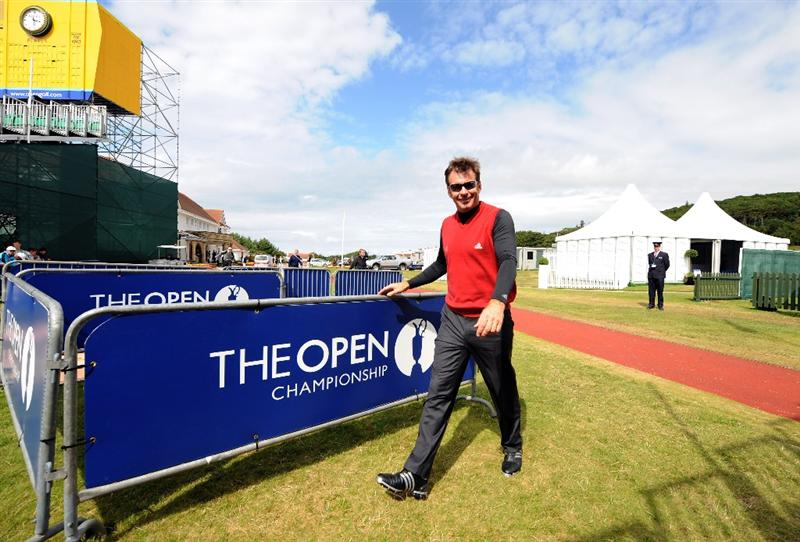 TURNBERRY, UNITED KINGDOM - JULY 12: Nick Faldo of England arrives at the course during the practice round of the 138th Open Championship on July 12, 2009 on the Ailsa Course, Turnberry Golf Club, Turnberry, Scotland. (Photo: Harry How/Getty Images)