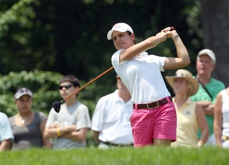 HAVRE DE GRACE, MD - JUNE 07: Lorena Ochoa of Mexico drives from the 2nd tee during the third round of the 2008 McDonald's LPGA Championship held at Bulle Rock Golf Course, on June 7, 2008 in Havre de Grace, Maryland.  (Photo by David Cannon/Getty Images)