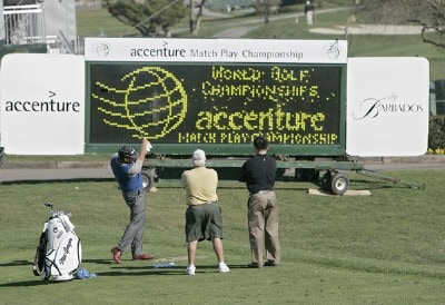 Steve Elkington during a practice round for the 2006 Accenture Match Play Championship at the La Costa Resort & Spa in Carlsbad, California on February 20, 2006.Photo by Stan Badz/PGA TOUR/WireImage.com