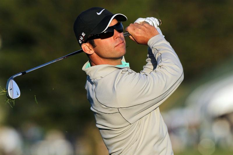 PEBBLE BEACH, CA - JUNE 19:  Paul Casey of England hits his tee shot on the 17th hole during the third round of the 110th U.S. Open at Pebble Beach Golf Links on June 19, 2010 in Pebble Beach, California.  (Photo by Stephen Dunn/Getty Images)