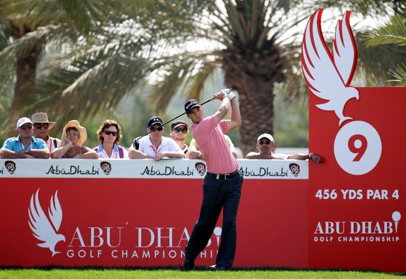 ABU DHABI, UNITED ARAB EMIRATES - JANUARY 23:  Martin Kaymer of Germany on the 9th tee during the third round of the Abu Dhabi Golf Championship at the Abu Dhabi Golf Club on January 23, 2010 in Abu Dhabi, United Arab Emirates.  (Photo by Ross Kinnaird/Getty Images)