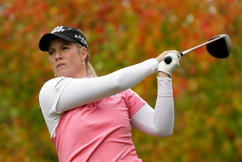 SHIMA, JAPAN - NOVEMBER 07:  Brittany Lincicome of United States plays a shot on the 2nd hole during the final round of the Mizuno Classic at Kintetsu Kashikojima Country Club on November 7, 2010 in Shima, Japan.  (Photo by Chung Sung-Jun/Getty Images)
