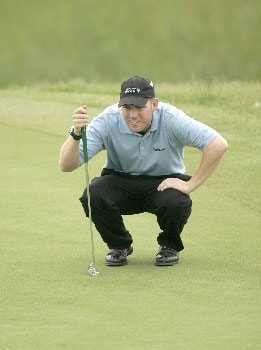 Troy Matteson on the 13th hole during the second round of the 2005 LaSalle Bank Open at the The Glen Club in Glenview, Illinois on June 10, 2005.Photo by Mike Ehrmann/WireImage.com