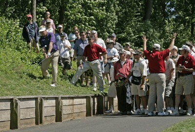 Carl Pettersson takes a drop and hit a tough shot on #15 during the third round of the Travelers Championship held at TPC River Highlands in Cromwell, Connecticut, on June 23, 2007. Photo by: Chris Condon/PGA TOURPhoto by: Chris Condon/PGA TOUR