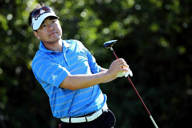 LEMONT, IL - SEPTEMBER 10:  Charlie Wi of South Korea tees off from the sixth tee during the second round of the BMW Championship at Cog Hill Golf & Country Club on September 10, 2010 in Lemont, Illinois.  (Photo by Jamie Squire/Getty Images)
