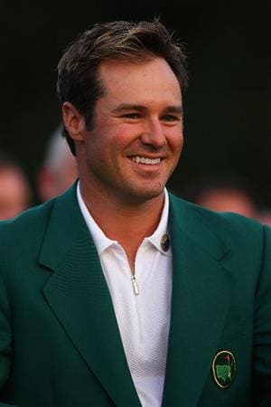 AUGUSTA, GA - APRIL 12:  Trevor Immelman of South Africa smiles during the green jacket presentation after the 2009 Masters Tournament at Augusta National Golf Club on April 12, 2009 in Augusta, Georgia.  (Photo by Andrew Redington/Getty Images)