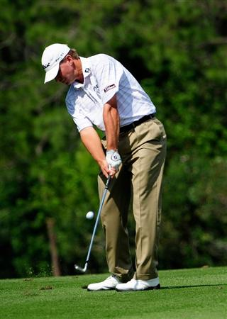 PALM HARBOR, FL - MARCH 21:  Steve Stricker hits on the 7th hole during the third round of the Transitions Championship at the Innisbrook Resort and Golf Club on March 21, 2009 in Palm Harbor, Florida.  (Photo by Sam Greenwood/Getty Images