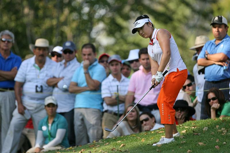 GUADALAJARA, MX - NOVEMBER 15: Jeong Jang of South Korea hits her third shot on the 17th hole during the third round of the Lorena Ochoa Invitational at Guadalajara Country Club on November 15, 2008 in Guadalajara, Mexico. (Photo by Hunter Martin/Getty Images)